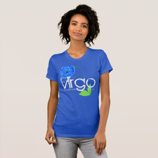 Virgo Horoscope Tee-shirt And Sapphire Blue Flower T-Shirt
