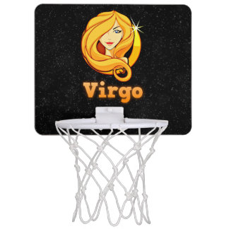 Virgo illustration mini basketball hoop