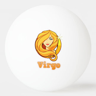 Virgo illustration ping pong ball