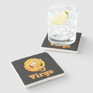 Virgo illustration stone coaster