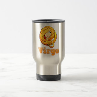 Virgo illustration travel mug