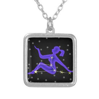 Virgo Square Pendant Necklace