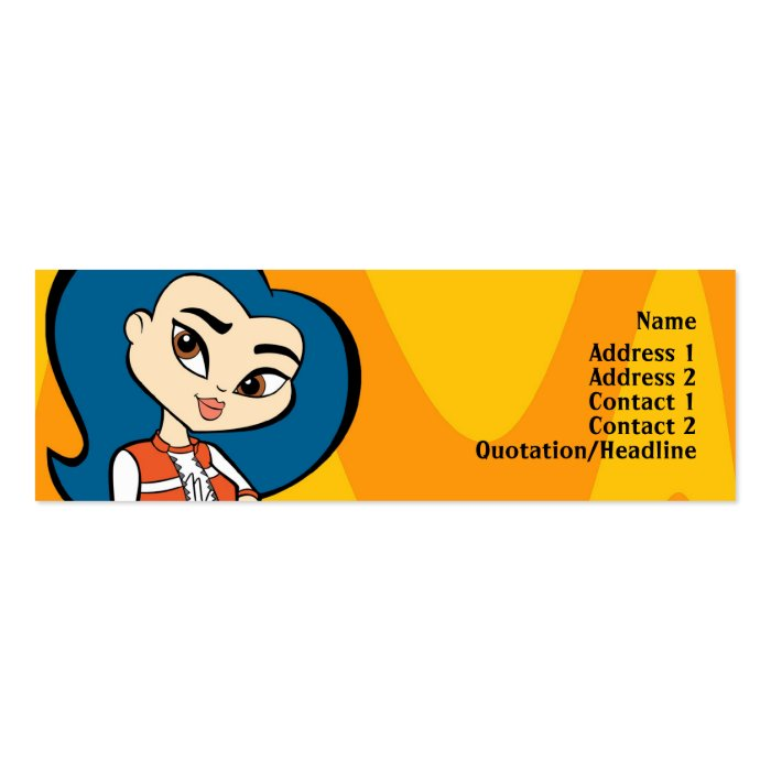 Virgo Profile Card Pack Of Skinny Business Cards