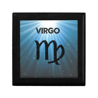 Virgo Sign Small Square Gift Box