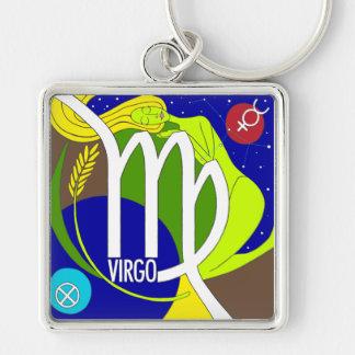 Virgo Square Keychain