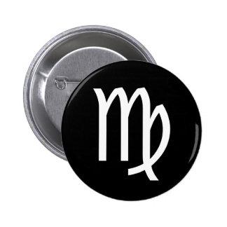 Virgo Symbol 6 Cm Round Badge