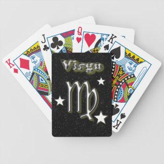 Virgo symbol bicycle playing cards