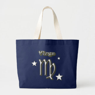 Virgo symbol large tote bag