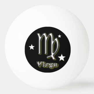 Virgo symbol ping pong ball