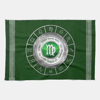Virgo - The Maiden Astrological Sign Tea Towel