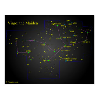 Virgo the Maiden Constellation Poster