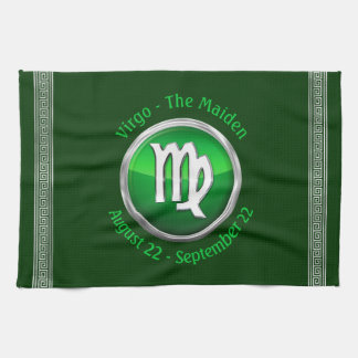Virgo - The Maiden Zodiac Sign Tea Towel