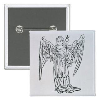 Virgo (the Virgin) an illustration from the 'Poeti 15 Cm Square Badge