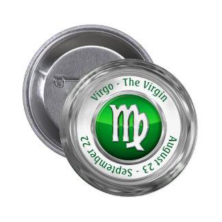 Virgo - The Virgin Astrological Sign 6 Cm Round Badge