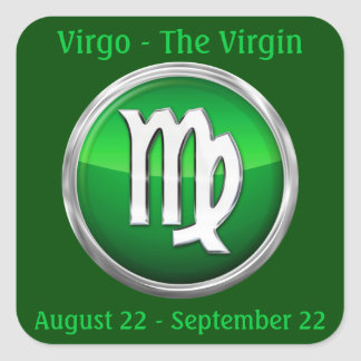 Virgo - The Virgin Horoscope Sign Square Sticker