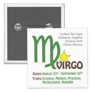 Virgo Traits Button