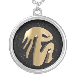 Virgo, Vergine Round Pendant Necklace