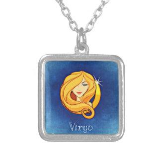 Virgo, Vergine Square Pendant Necklace