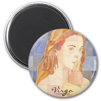 Virgo Zodiac 6 Cm Round Magnet