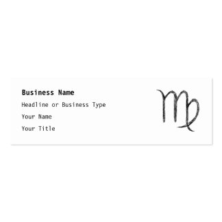 Virgo. Zodiac Astrological Sign. Business Card Templates