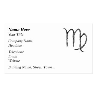 Virgo. Zodiac Astrological Sign. Business Cards