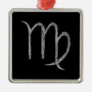 Virgo. Zodiac Astrology Sign. Black. Ornament