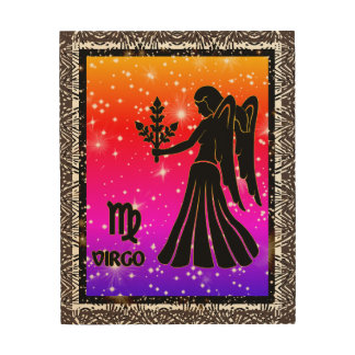 Virgo Zodiac Astrology Wood Wall Art