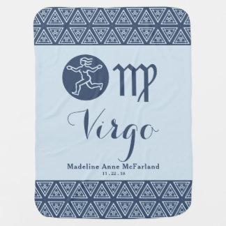Virgo Zodiac Baby Blanket