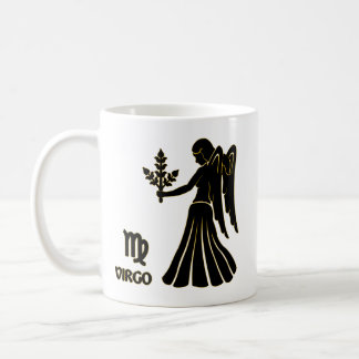 Virgo Zodiac Black Gold Modern Mug Tea Cup