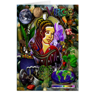 Virgo Zodiac Greeting Card