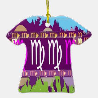 VIRGO Zodiac Holy Purple Symbols Ceramic T-Shirt Decoration