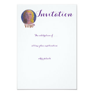 Virgo - Zodiac Invitation card
