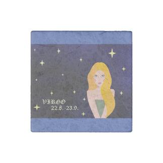 Virgo Zodiac Marble Magnet Stone Magnet