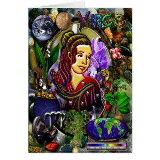 Virgo Zodiac Note Card
