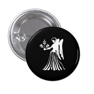 Virgo Zodiac Pictogram Button