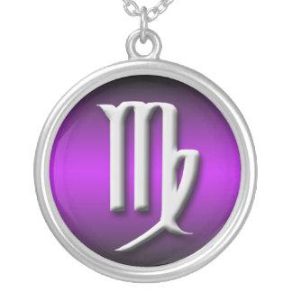 Virgo Zodiac Purple Gradient Necklace