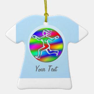 Virgo Zodiac Rainbow Running Girl Team Sports Christmas Ornament