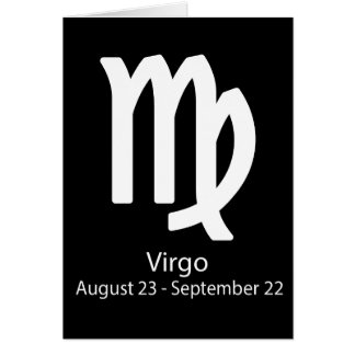 Virgo Zodiac sign Astrology Cards