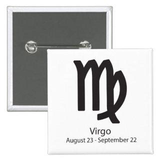 Virgo zodiac sign August 23 - September 22 Button