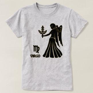 Virgo Zodiac sign Black Gold Modern T-Shirt, T-Shirt