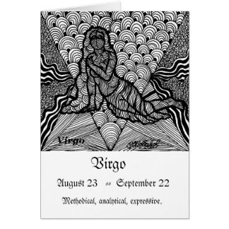 Virgo  (Zodiac sign) Card