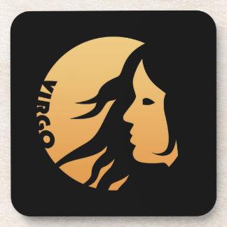 Virgo Zodiac Sign Coasters