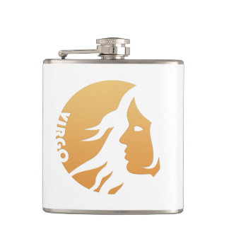 Virgo Zodiac Sign Flasks