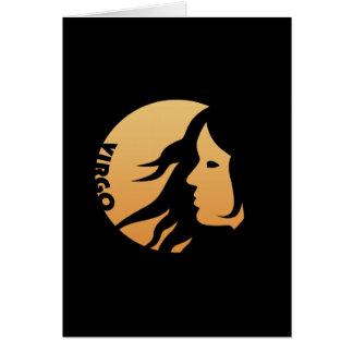 Virgo Zodiac Sign Greeting Card
