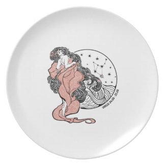 Virgo zodiac sign Horoscope circle Plate