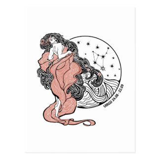 Virgo zodiac sign.Horoscope circle Postcard