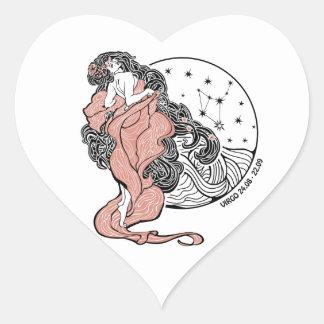 Virgo zodiac sign Horoscope circle Stickers