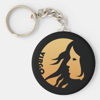 Virgo Zodiac Sign Keychain