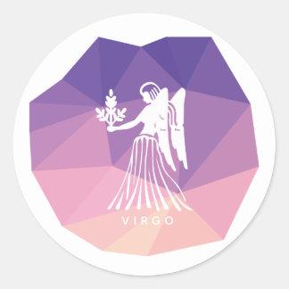 Virgo zodiac sign modern sticker. classic round sticker