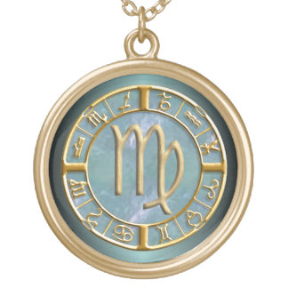 Virgo Zodiac Sign Necklace